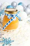 Gift lemon curd Royalty Free Stock Photography