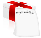 Gift and letter (card). Gift and greeting letter. (congratulations Stock Photography