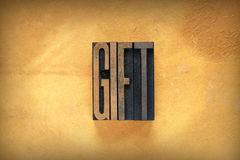 Gift Letterpress Royalty Free Stock Images