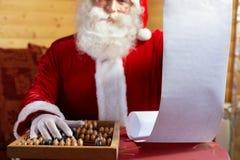 Gift list Stock Image