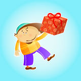 Gift for little kid Royalty Free Stock Photos