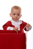 Gift from little Santa Stock Image