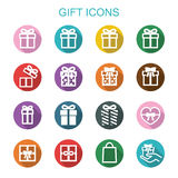 Gift long shadow icons Stock Photo