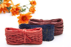 Gift loops with flowers Stock Image