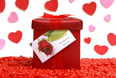 Gift With Love Stock Photos