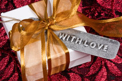 Gift With Love Royalty Free Stock Photos