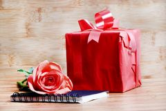 Gift of love stock photography