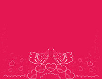 Gift  love birds Royalty Free Stock Photography