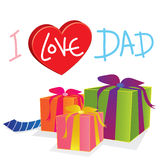 Gift love dad. Vector gift love dad isolated Stock Photography