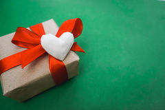Gift made with hands Royalty Free Stock Image