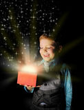 Gift in magic packing Royalty Free Stock Photos