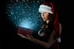 Gift in magic packing Royalty Free Stock Images