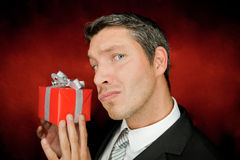 Gift man Stock Photo