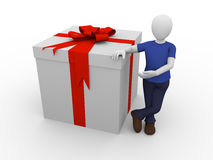Gift man Royalty Free Stock Photography