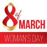 Gift for 8 March, Women's Day, eps 10. Stock Image