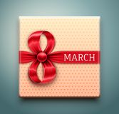 Gift for 8 March vector illustration