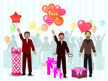 A gift from the men March 8 Women s Day Stock Images