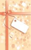 Gift met nota Stock Foto's