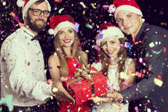 Gift at midnight Stock Image