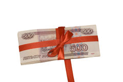Gift in money Stock Photos