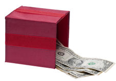 Gift of Money Royalty Free Stock Photos