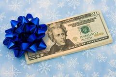 Gift of Money stock photo
