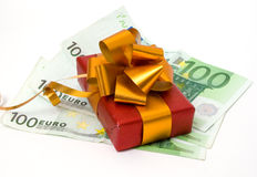 Gift and money Royalty Free Stock Photo
