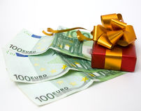 Gift and money Stock Photography