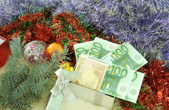 Gift with money Stock Photos