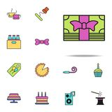 gift money colored icon. birthday icons universal set for web and mobile royalty free illustration