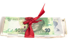 Gift of money Royalty Free Stock Photography