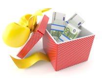 Gift with money Stock Photo