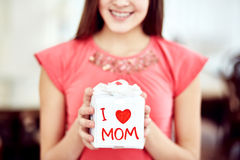 Gift for mother Royalty Free Stock Photos