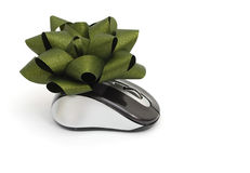 A gift mouse. Idea of a wireless gift mouse Stock Image
