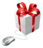 Gift mouse online present shop Royalty Free Stock Photos