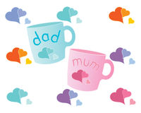 Gift mugs Stock Photos
