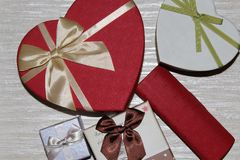 Gift for the new year. Beautiful gift for the new year under the tree Stock Images