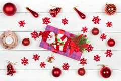 A gift for a New Year or Christmas Stock Photo