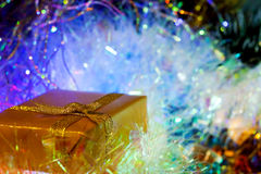 Gift new year Royalty Free Stock Photos