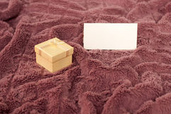 Gift and a note Stock Photography