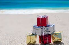 Gift by the ocean Stock Photo