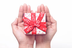 Gift On The Hand Stock Photo