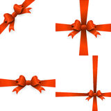 Gift orange ribbon and bow. EPS 10 Stock Photography