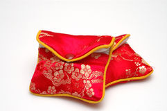 Gift package. 2 Chinese style packages inside, red color, isolated. The people usually put the gold & jewelry with the package in China, such as wedding gift Stock Photography