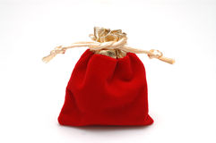 Gift package. Chinese style packages inside, red color, isolated Stock Photo