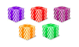 Gift package icon set Royalty Free Stock Photography