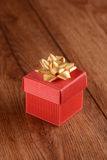 Gift package red Royalty Free Stock Photography