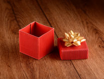 Gift package red Stock Photos