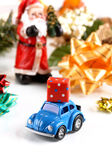 Gift package on small car Royalty Free Stock Photos