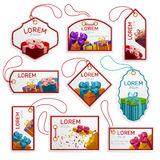 Gift Package Tags Set Royalty Free Stock Photography